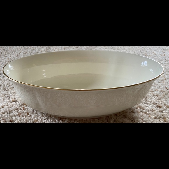 Lenox Courtyard Gold Open Vegetable Serving Bowl
